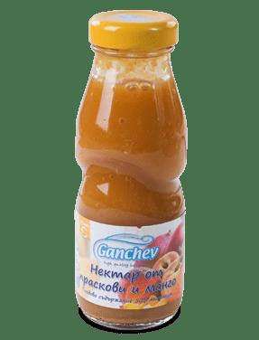 Ганчев Нектар от праскови и манго 4 месеца 200мл